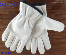 white pig grain elastic leather gloves in mid west