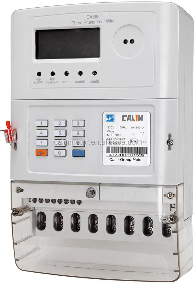 CALIN Original Design STS Prepaid Smart 3 Phase 4 wire KWH Meter