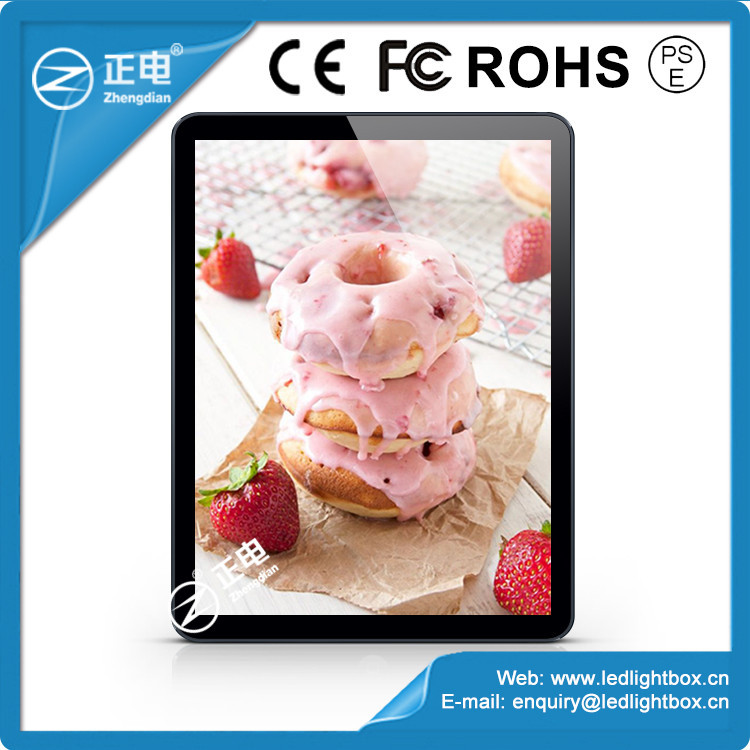 2015 hot selling low price ABS plastic advertising tablet design acrylic menu display indoor led light box menu