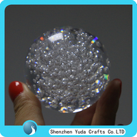 decorative acrylic crystal ball, acrylic sphere globes with bubble elegant christmas bubble ball