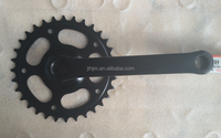 S102ED steel chainwheel bicycle crankset crank length:175mm/152mm/140mm