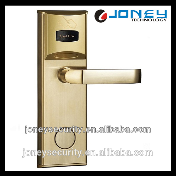 Smart card keyless hotel door lock with door lock management access control system