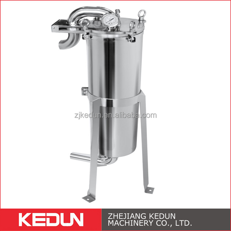 Water Filter System Sanitary Stainless Steel Food Beverage ProcessingTop Entry Single Bag Filter