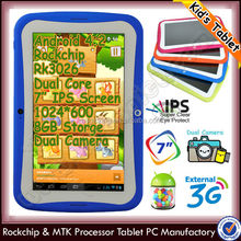 New arrival 7inch Android 4.2 Dual core RK3026 kids IPS Tablet PC