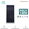 poly solar panel 140w solar panel system with best quality and low price