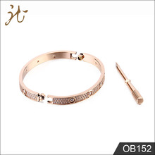 Fashion nice quality stainless steel rose gold bracelet jewelry