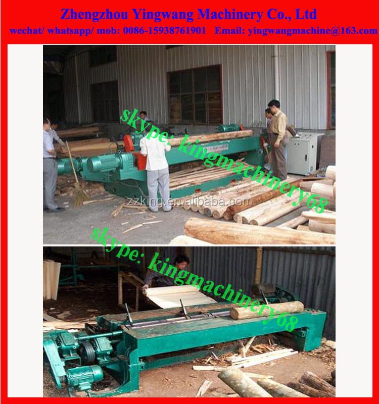 wood log/ veneer slicing/ slicer machine