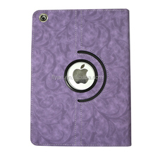 360 Rotating PU Wake/Sleep rose pattern Leather Case Skin Cover for Apple Ipad Air 5 5th Gen