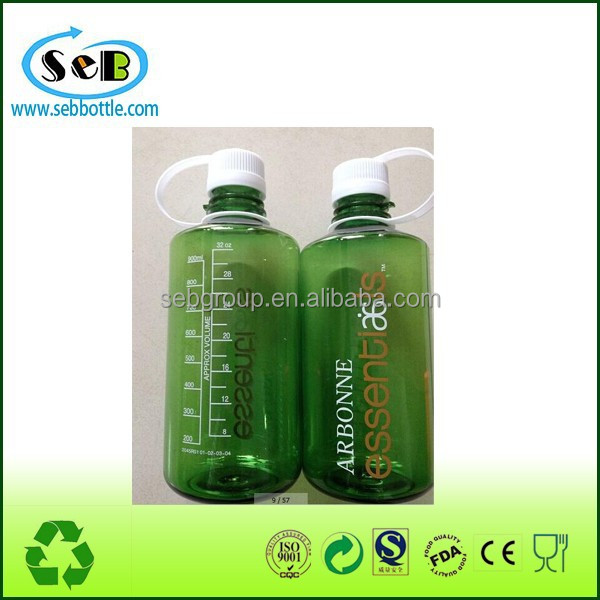 1000ml big volume Wide mouth plastic water bottle can add ice