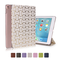 New Arrival Soft PU Leather Wave Printing Flip Cover Smart Case for iPad Pro 9.7""