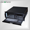 4U Rackmount Chassis 8.4 inch Screen 88 keyboard and touchpad PICMG1.0 1.3 Two 5.25 inch CD-ROM bays Two 3.5 inch HD bays