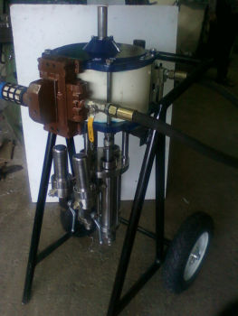 two component spray painting machine
