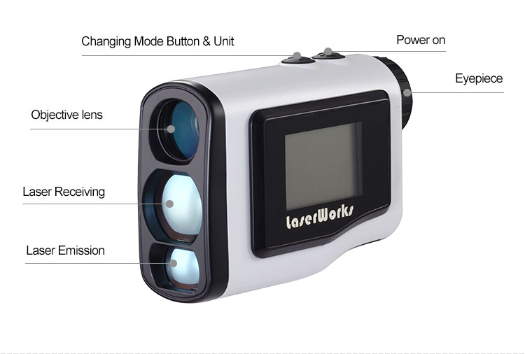600m golf telescope laser rangefinder with pinseeking and angle