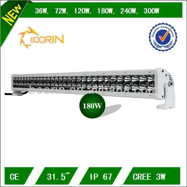 "High power low defective waterproof IP67 180w 31.5"" emergency light bar for SUV and cars"