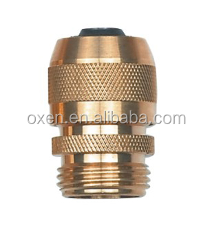MALE AND FEMALE BRASS GARDEN HOSE CONNECTOR 4PCS GARDEN WATERING CONNECTOR