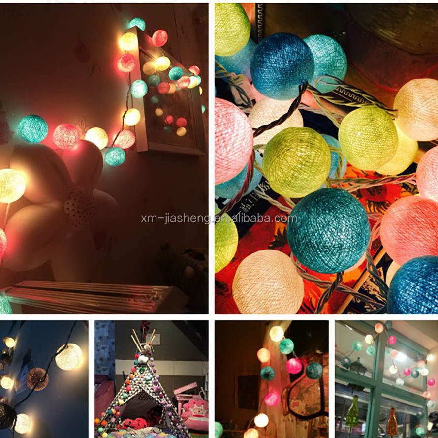 30 Big LED Cotton Ball Light Chandelier Luminarias Decor Navidad Lamp Boule Lumineuse Pendant String light