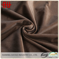 Brown durable digital printed striped fabric