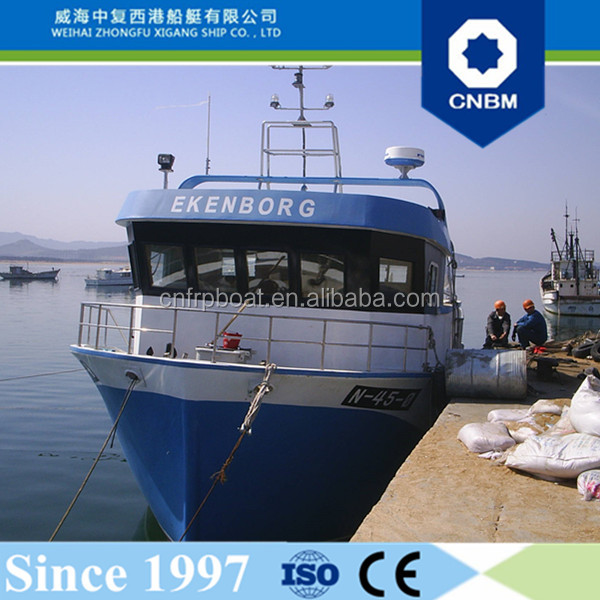 CE Certification and Fiberglass Hull Material 12.8m 42ft Large Fishing Vessels for Sale Australia
