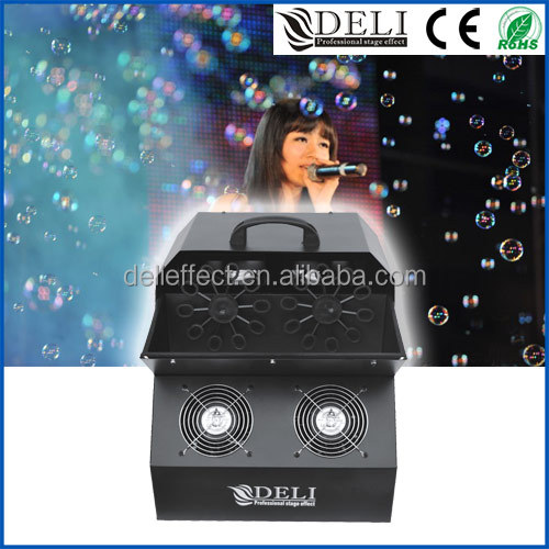 Deli Stage Effect Portable Bubble Making Machine For Wedding Party Show Event