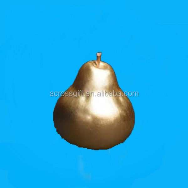 golden pear ceramic fruit