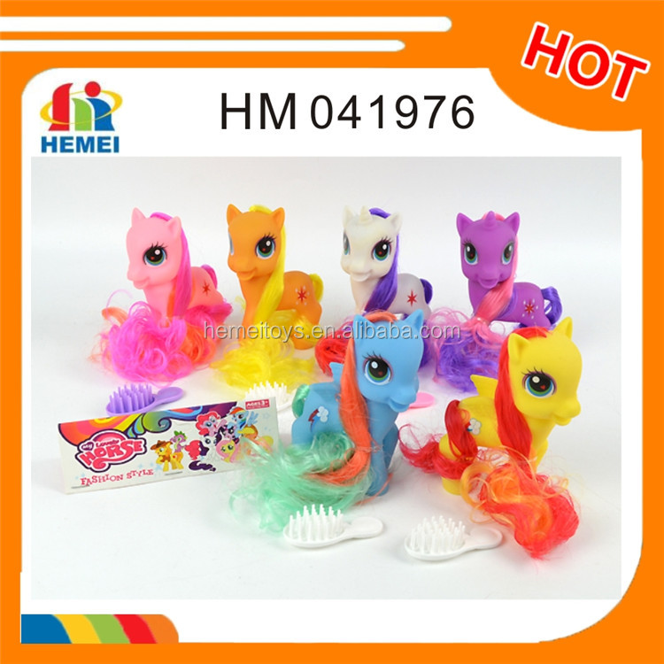 Lovely plastic horse pony toy