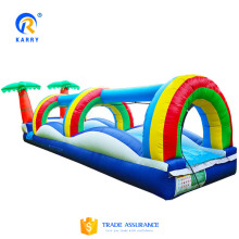 Rainbow ourdoor kids inflatable water slide, giant inflatable water slide for kids with high quality