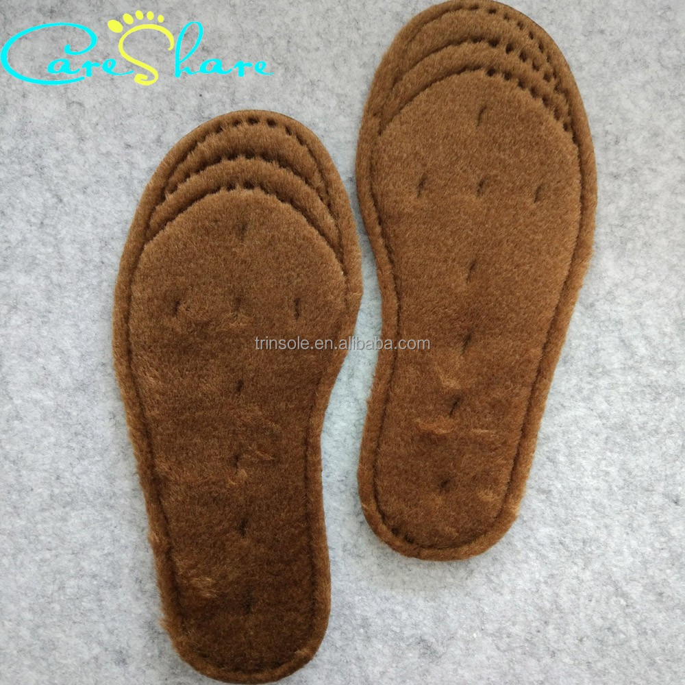 Wool warm Fleece Provides and Comfort pad Insole with Bottom Foam Layer Provides Extra Cushioning