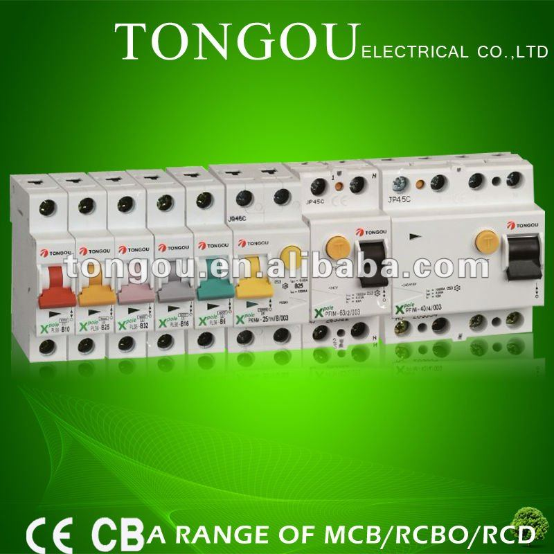 A range of MCB/RCBO/RCD breakers\ interruptor