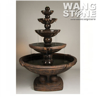 Garden Decoration 5 Tiers Large Bronze Water Fountain