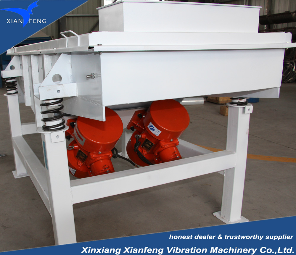 construction material multi layers straight line vibrating screen with different meshes