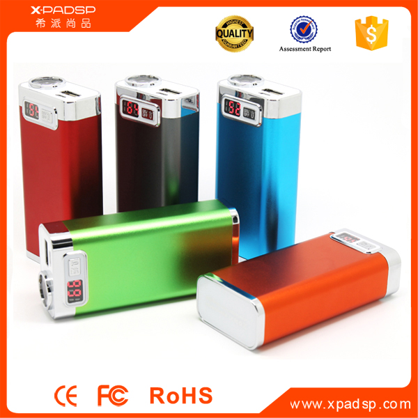 External Portable Power Bank Battery Charger 5000mAh LED Flashlight For Phones