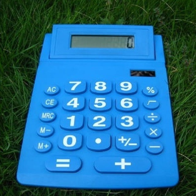 dual solar power big button old people 12-digits electronic calculator