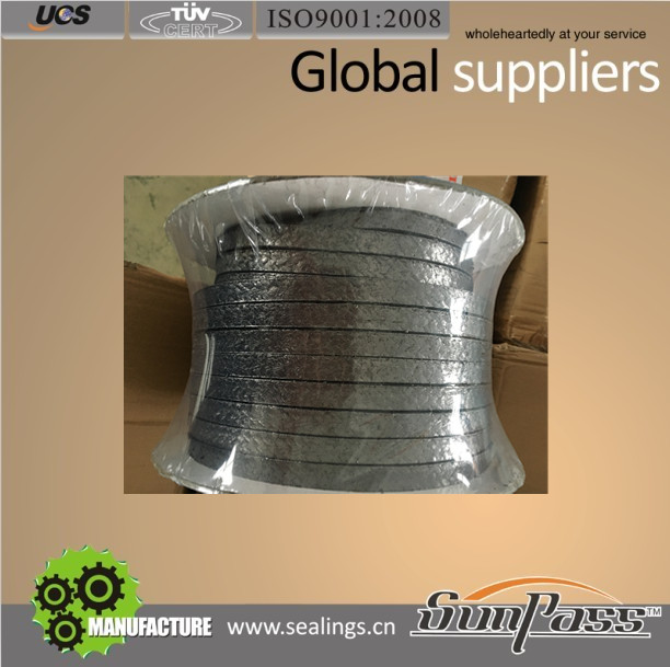 For Valve Steam Packing Certificate ISO9001:2008 Rotary Sealing Pure Flexible Graphite Gland Packing