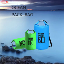 High Quality Hot Selling Tarpaulin 5L 10L 20L Waterproof Duffel Bag for Swimming Camping Hiking With Your Custom Logo
