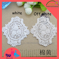 9.5*8.5cm lace embroidery patches, lace applique for wedding dress and hair accessories