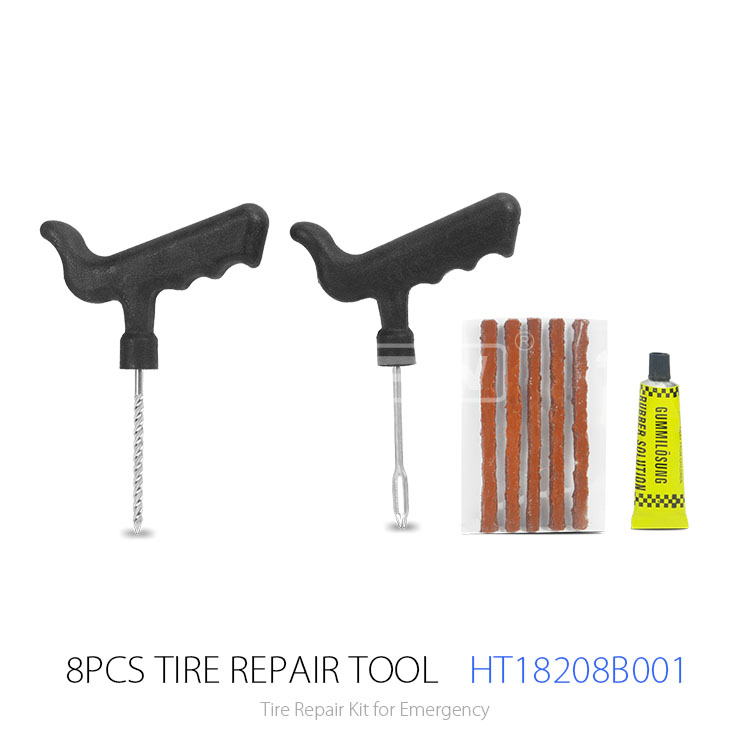 Hot Sale 8pcs Tyre Repair Equipment and Tire Puncture Repair Kit for Car Motorcycle Bicycle