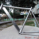 Ti road bike frame water drop tube titanium road bike frame 53cm Ti road bicycle frames custom