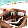 Simple Design Genuine Leather Travel Wallet Clutch Bag for Men with Multi-comparments Interior