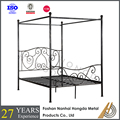 metal 4 poster double bed frame
