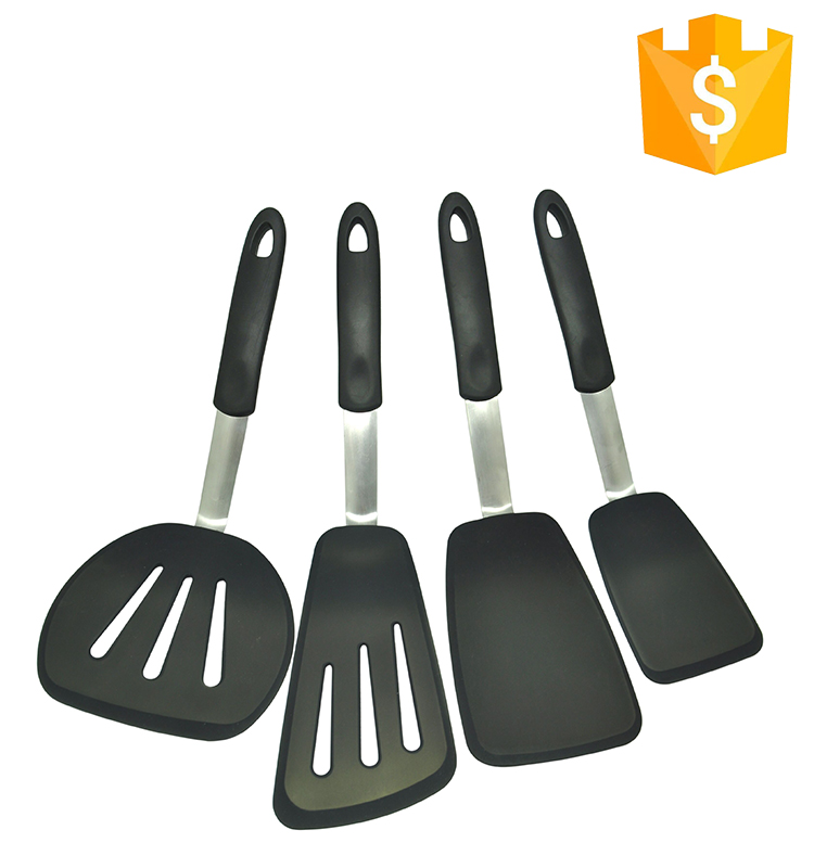 Factory colorful silicone handle cooking tools set Functional kitchen spatula Utensils sets