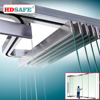 Stainless steel glass hardware movable glass wall systems