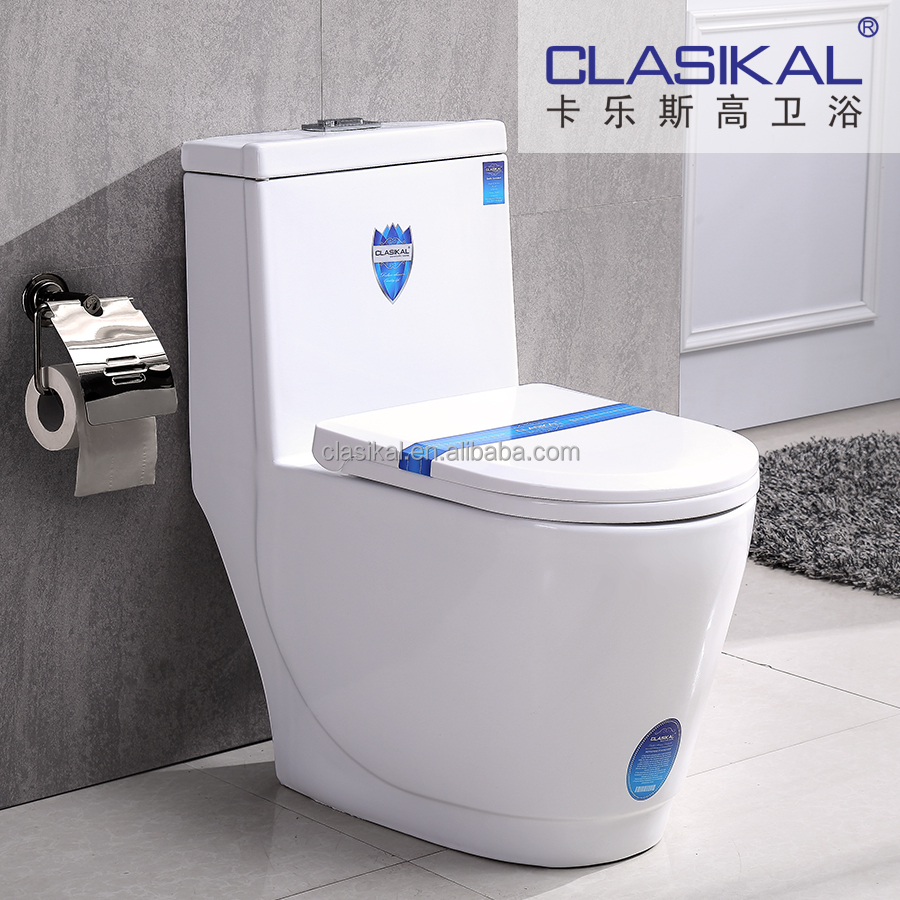 Beautiful design sanitary ware one piece siphonic ceramic wc toilet