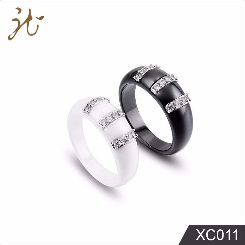 High Quality White Women Jewelry Ceramic Ring