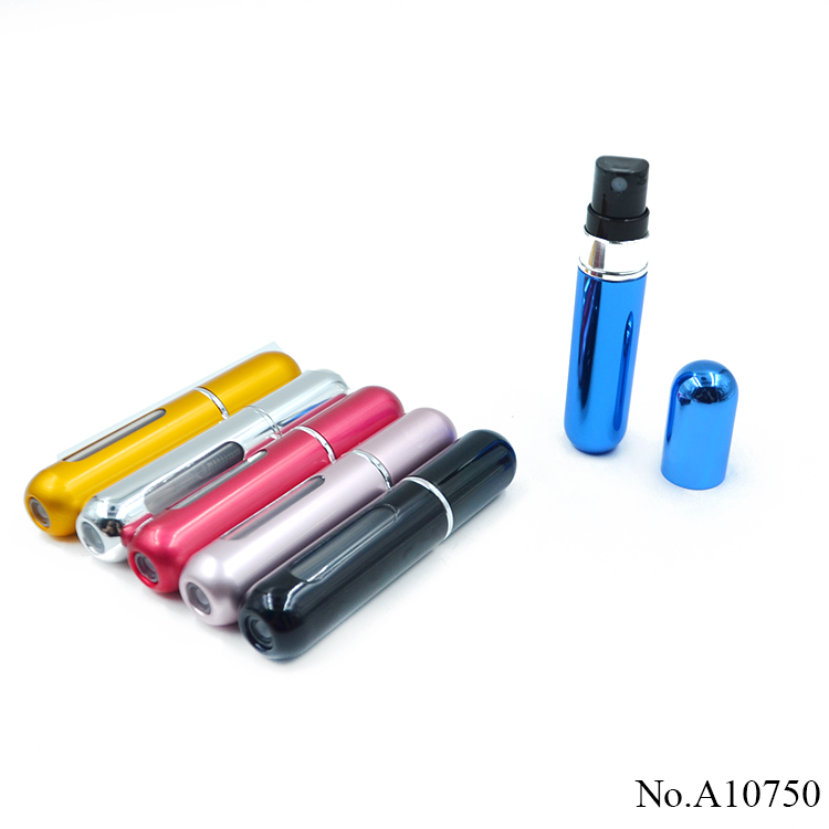 A10750 Wholesale Mini Portable Travel Refillable 5ml Empty Atomizer Perfume Spray Bottles