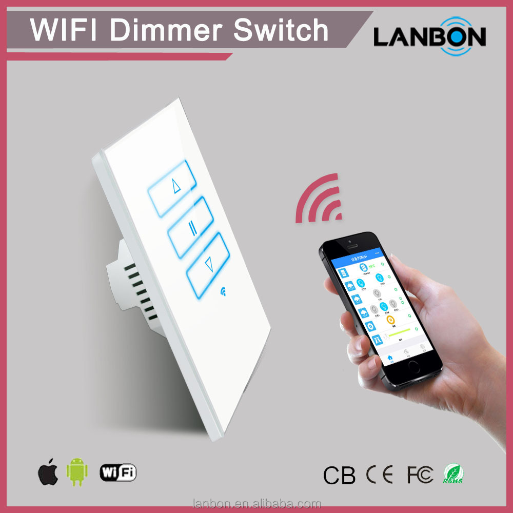 Lanbon Smart Home Products Electrical Switch Remote Control Dimmer ...