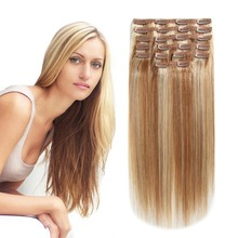 80g 100g 120g 160g 220g Remy Clip In Hair Extension, Full Cuticle Human Hair Extension