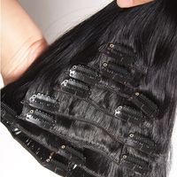 Online Shopping India One Piece Clip In Human Hair Extensions For Black Women