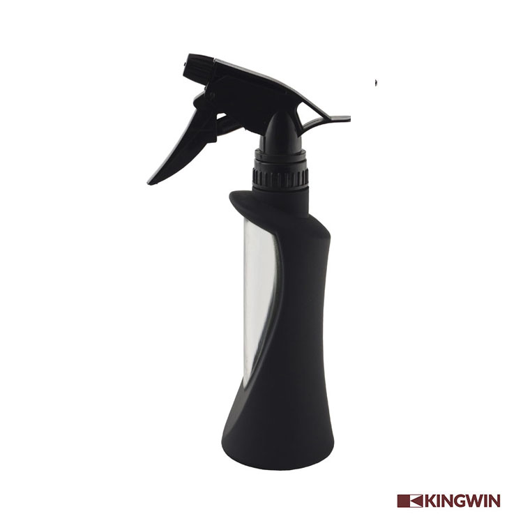 China top supplier Kingwin 300Ml black Plastic hair salon spray bottle