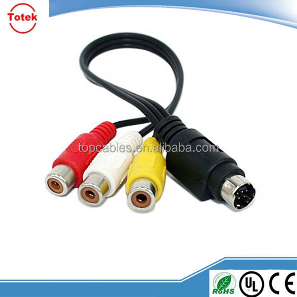 9PIN MIN DIN cables to RCA for consumer electronics application