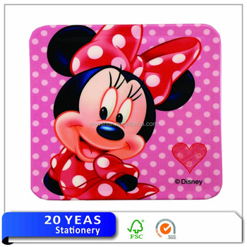 Disney authorized manufacturer plastic beaded placemats and coaster